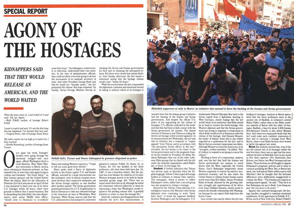 Article Preview: AGONY OF THE HOSTAGES, April 1990 | Maclean's