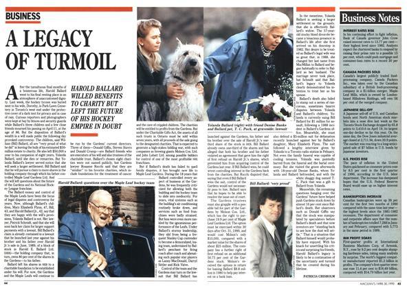 Article Preview: A LEGACY OF TURMOIL, April 1990 | Maclean's
