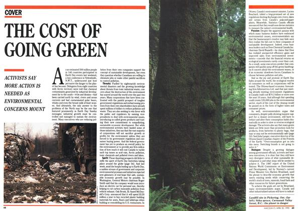Article Preview: THE COST OF GOING GREEN, April 1990 | Maclean's