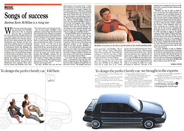 Article Preview: Songs of success, April 1990 | Maclean's