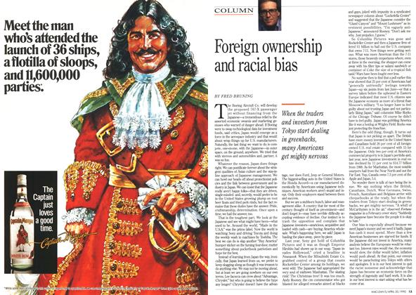 Article Preview: Foreign ownership and racial bias, April 1990 | Maclean's