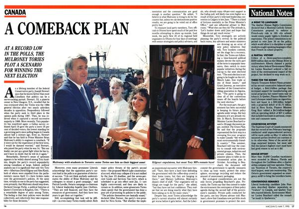 Article Preview: A COMEBACK PLAN, May 1990 | Maclean's