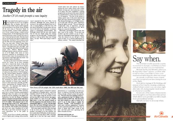 Article Preview: Tragedy in the air, May 1990 | Maclean's
