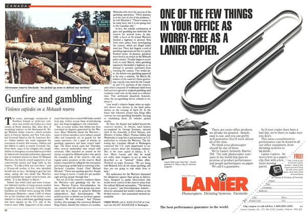 Article Preview: Gunfire and gambling, May 1990 | Maclean's