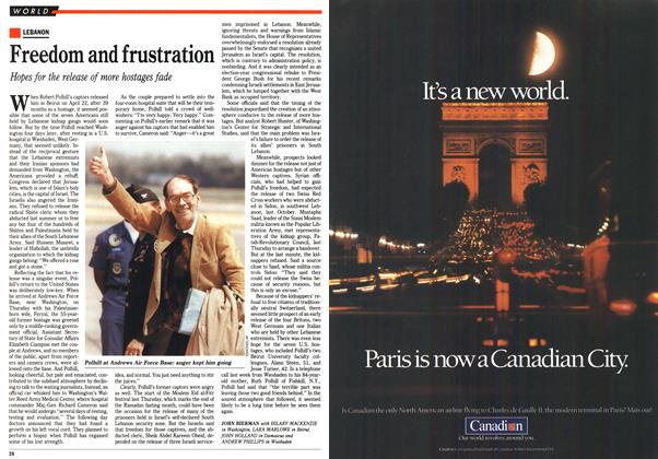 Article Preview: Freedom and frustration, May 1990 | Maclean's