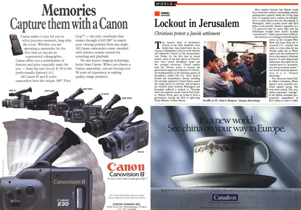 Article Preview: Lockout in Jerusalem, May 1990 | Maclean's