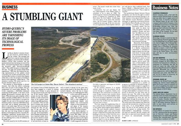Article Preview: A STUMBLING GIANT, May 1990 | Maclean's