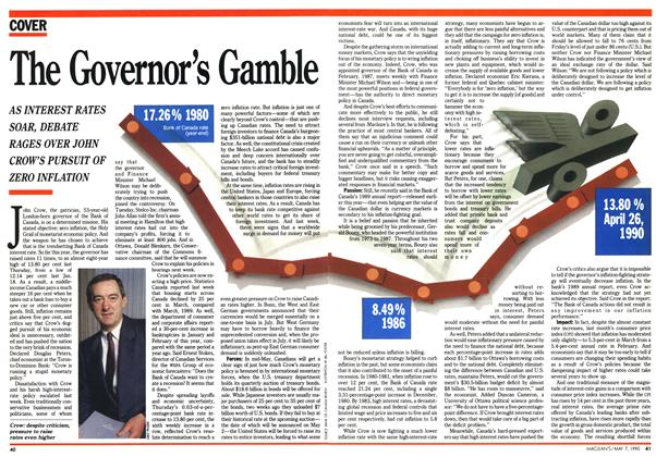 Article Preview: The Governor's Gamble, May 1990 | Maclean's
