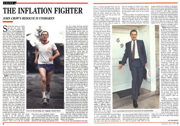 Article Preview: THE INFLATION FIGHTER, May 1990 | Maclean's