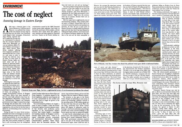 Article Preview: The cost of neglect, May 1990 | Maclean's