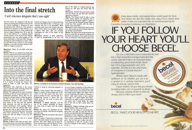 Article Preview: Into the final stretch, May 1990 | Maclean's