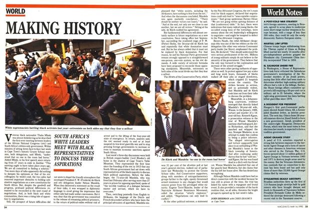 Article Preview: MAKING HISTORY, May 1990 | Maclean's