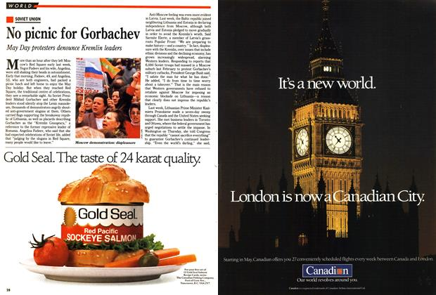 Article Preview: No picnic for Gorbachev, May 1990   Maclean's