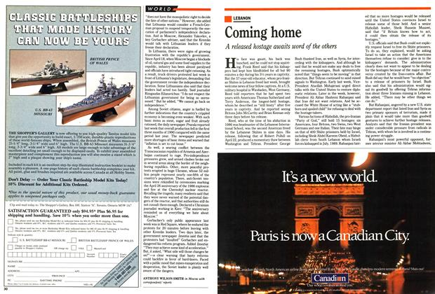 Article Preview: Coming home, May 1990 | Maclean's
