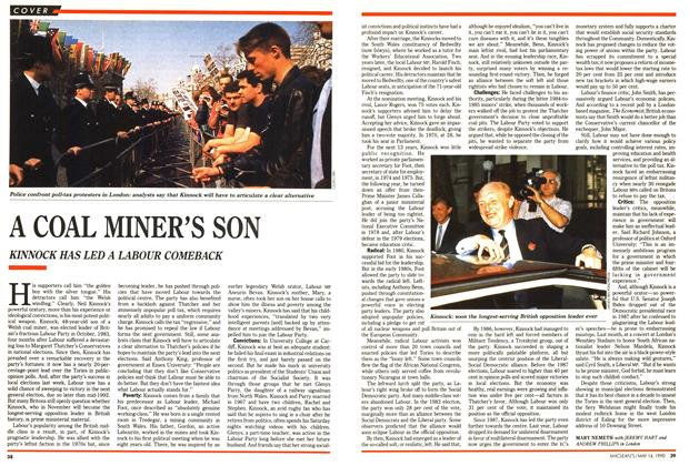 Article Preview: A COAL MINER'S SON, May 1990 | Maclean's