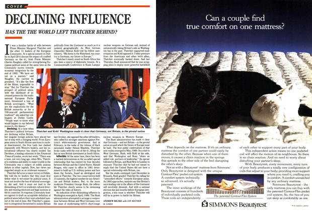 Article Preview: DECLINING INFLUENCE, May 1990 | Maclean's