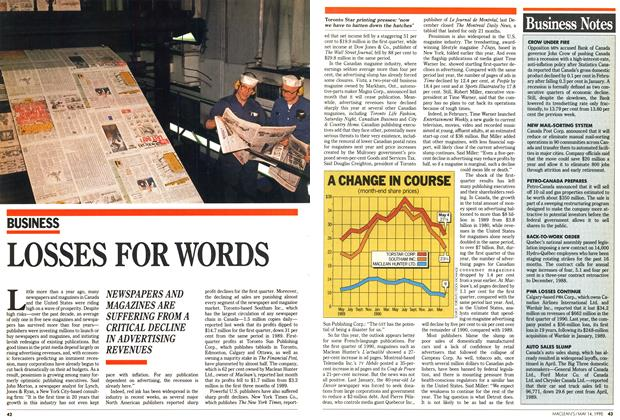 Article Preview: LOSSES FOR WORDS, May 1990 | Maclean's