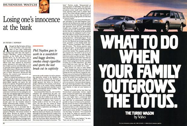 Article Preview: Losing one's innocence at the bank, May 1990 | Maclean's