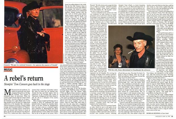 Article Preview: A rebel's return, May 1990 | Maclean's