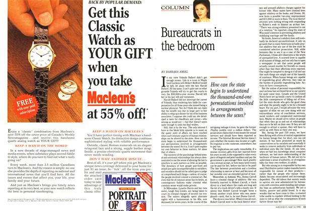 Article Preview: Bureaucrats in the bedroom, May 1990 | Maclean's
