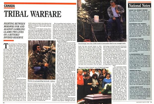 Article Preview: TRIBAL WARFARE, May 1990 | Maclean's