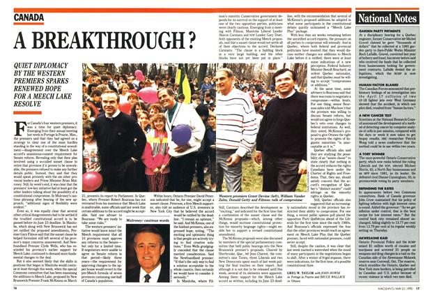 Article Preview: A BREAKTHROUGH ?, May 1990 | Maclean's