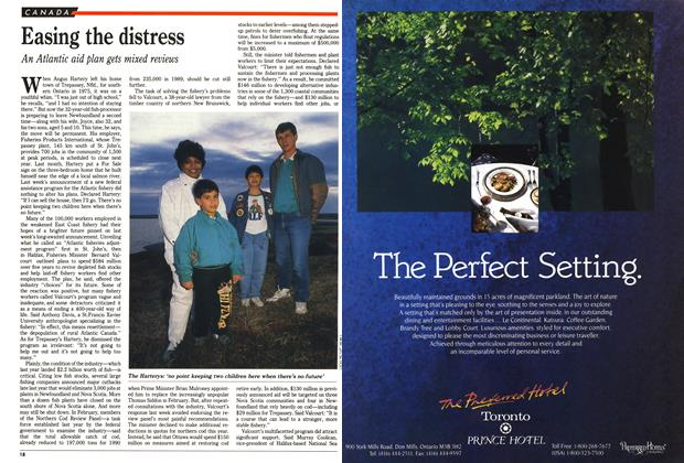 Article Preview: Easing the distress, May 1990 | Maclean's