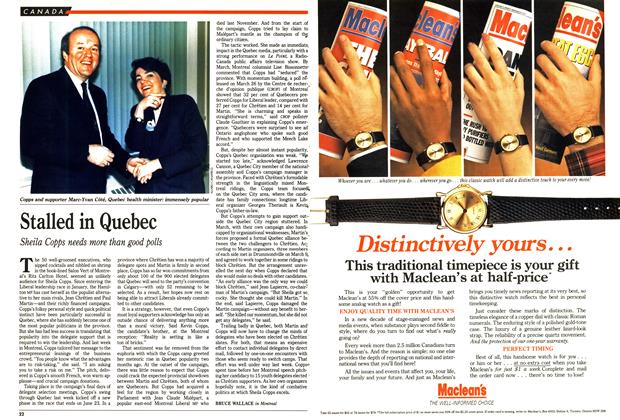 Article Preview: Stalled in Quebec, May 1990   Maclean's