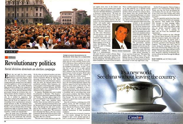 Article Preview: Revolutionary politics, May 1990   Maclean's