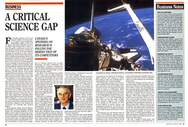 Article Preview: A CRITICAL SCIENCE GAP, May 1990 | Maclean's