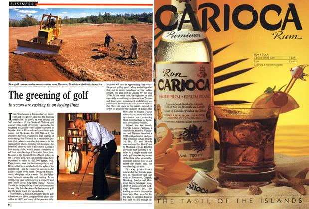 Article Preview: The greening of golf, May 1990 | Maclean's