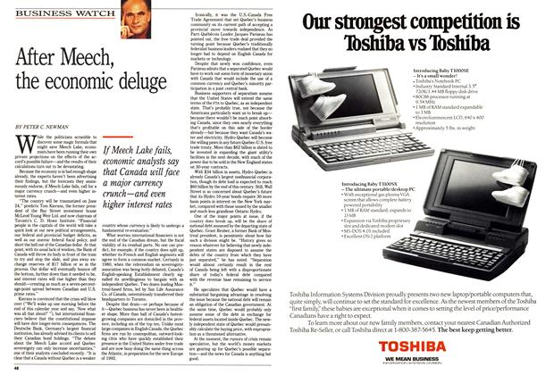 Article Preview: After Meech, the economic deluge, May 1990 | Maclean's