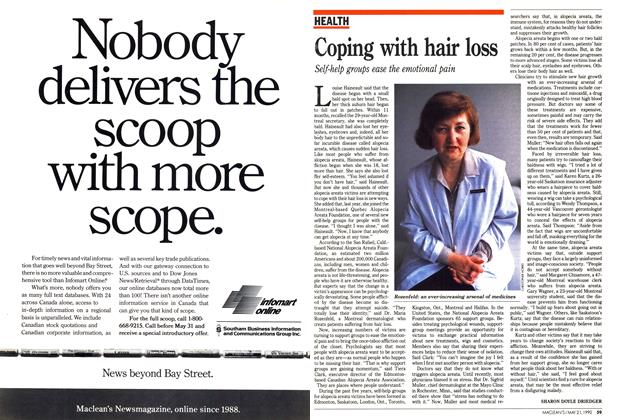 Article Preview: Coping with hair loss, May 1990 | Maclean's