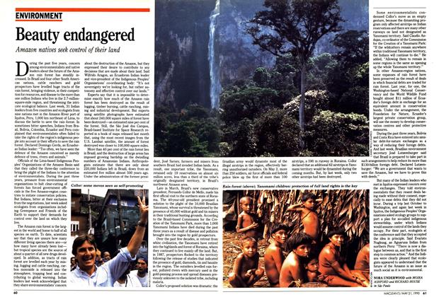 Article Preview: Beauty endangered, May 1990 | Maclean's