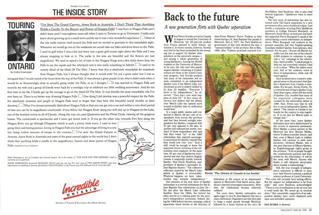 Article Preview: Back to the future, May 1990 | Maclean's