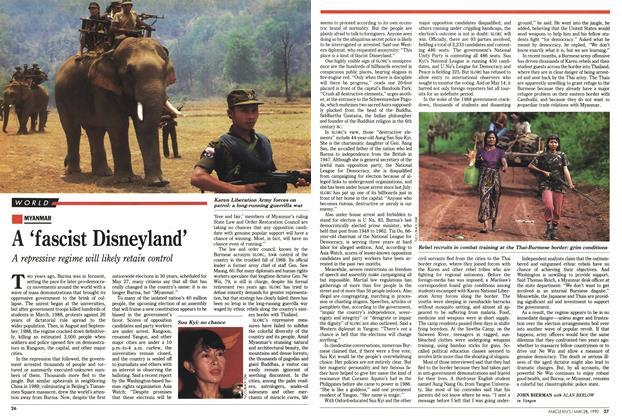 Article Preview: A 'fascist Disneyland', May 1990 | Maclean's
