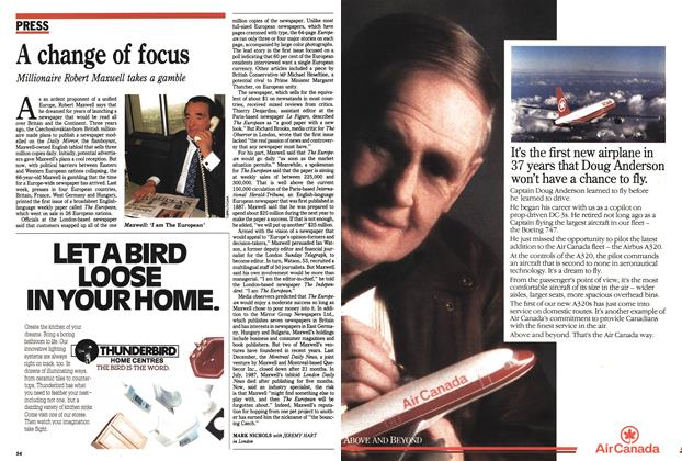 Article Preview: A change of focus, May 1990 | Maclean's
