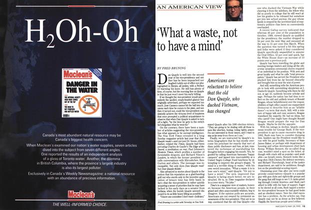 Article Preview: 'What a waste, not to have a mind', May 1990 | Maclean's
