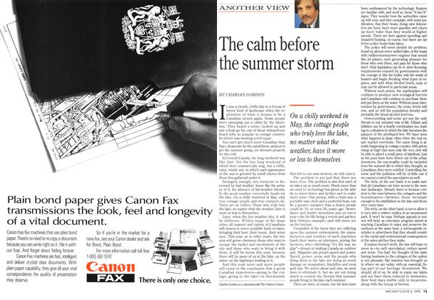 Article Preview: The calm before the summer storm, June 1990 | Maclean's