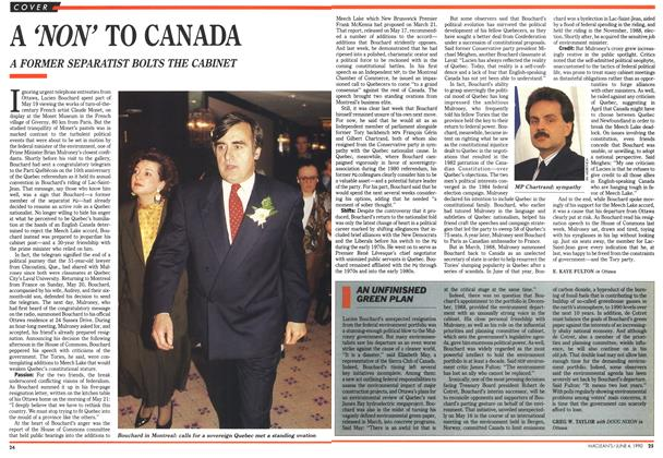 Article Preview: A 'NON' TO CANADA, June 1990 | Maclean's