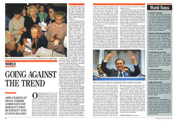 Article Preview: GOING AGAINST THE TREND, June 1990 | Maclean's