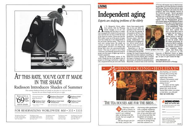 Article Preview: Independent aging, June 1990 | Maclean's