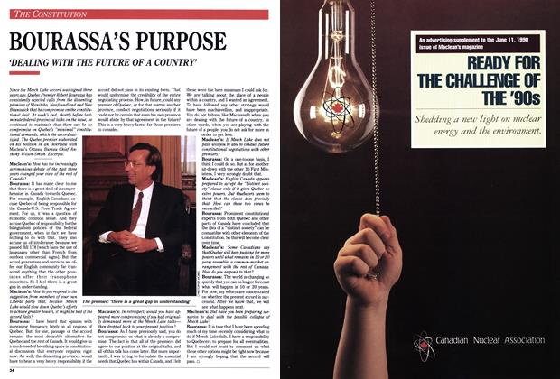 Article Preview: BOURASSA'S PURPOSE, June 1990 | Maclean's