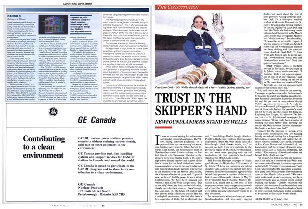 Article Preview: TRUST IN THE SKIPPER'S HAND, June 1990 | Maclean's