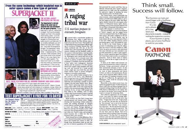 Article Preview: A raging tribal war, June 1990   Maclean's