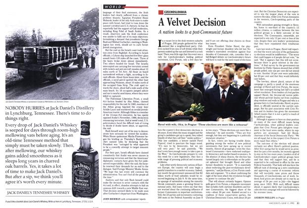 Article Preview: A Velvet Decision, June 1990 | Maclean's