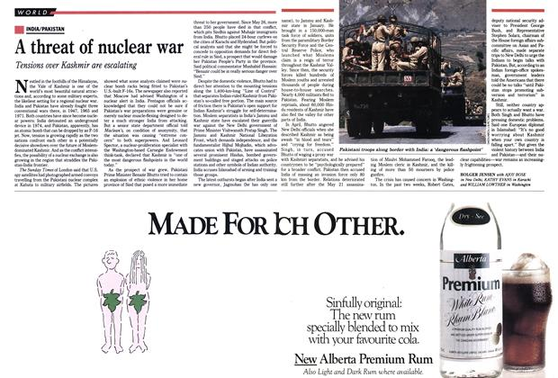 Article Preview: A threat of nuclear war, June 1990 | Maclean's