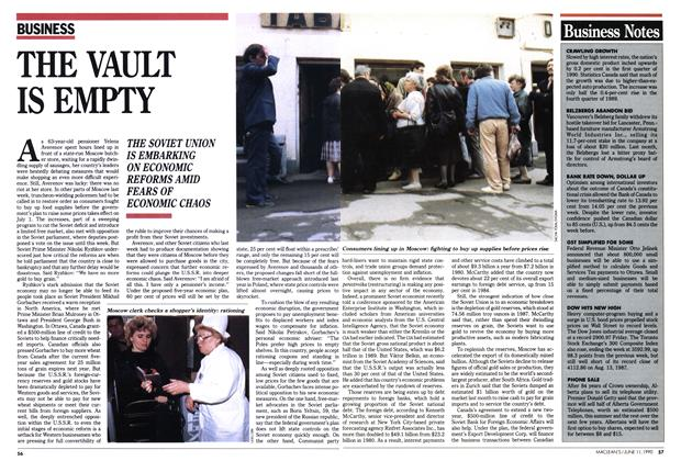 Article Preview: THE VAULT IS EMPTY, June 1990 | Maclean's