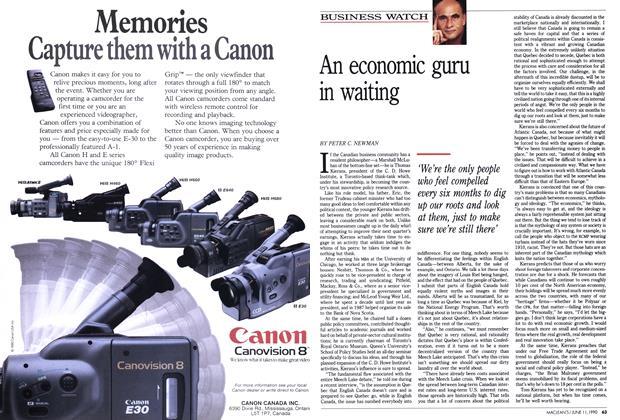 Article Preview: An economic guru in waiting, June 1990 | Maclean's