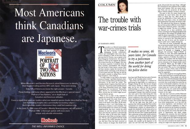 Article Preview: The trouble with war-crimes trials, June 1990 | Maclean's
